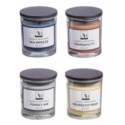 Свеча ароматиская в стеклянном подсвечнике 8х9 см