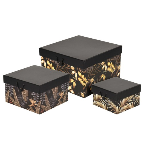 "Набор коробок подарочных ""Квадрат""  из 3-х шт., картон"
