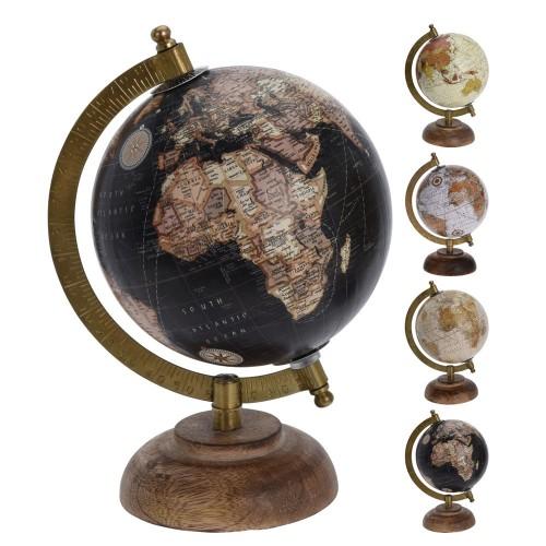 Глобус настольный, метал Н=21,5см