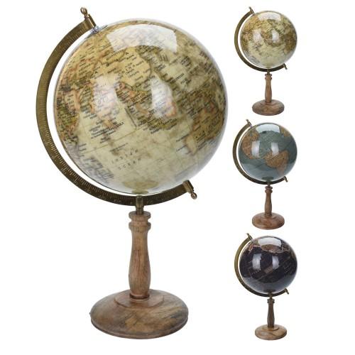 Глобус настольный 21,5х21,5х43см, металл