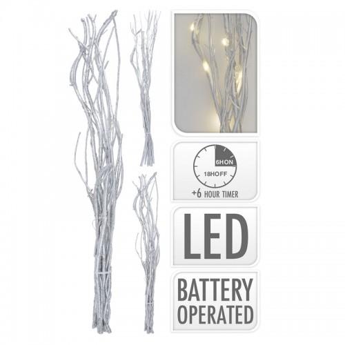 Ветка декоративная 40см с ЛЕД подсветкой 12ЛЕД, без батарейки