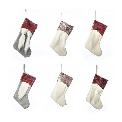 Рождественский носок 27х44см, текстиль