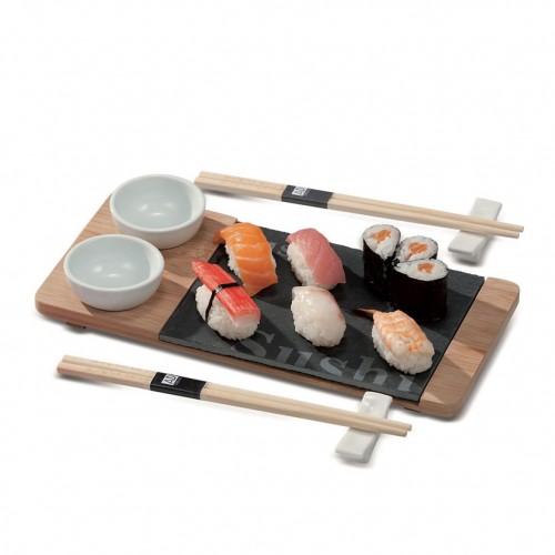 Набор для суши на 2 персоны, бамбук, сланец 30*14см