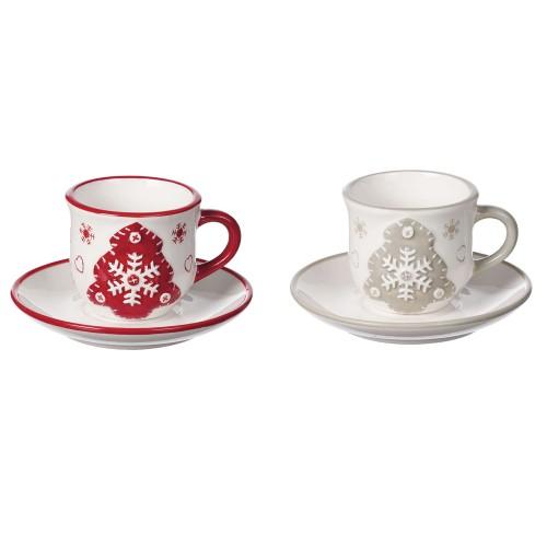 "Набор чайный ""Christmas"" на 4 персоны, керамика "" AD TREND"""